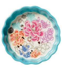 FLORIA DESSERT plate turquoise. I love Indiska dishes :)