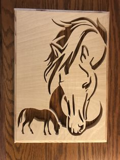Diy Wood Projects, Art Projects, Intarsia Patterns, Horse Silhouette, Intarsia Woodworking, Scroll Saw Patterns, Shabby Chic Style, Wood Art, Stained Glass