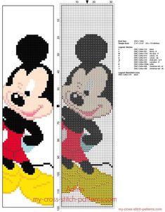 Enfants Disney Mickey Mouse signets modèle gratuit de point de croix