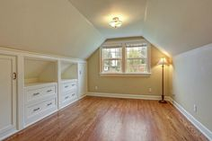 attic space storage. Would love to do this to our attic.