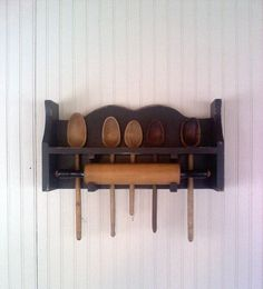 Primitive Rolling Pin Spoon Rack