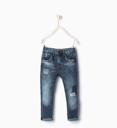 ZARA - NEW IN - Slim faded patch jeans