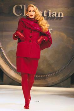 Jerry Hall in Dior   - HarpersBAZAAR.com