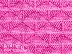 Knit and purl stitches. Thunderbird knitting stitch pattern