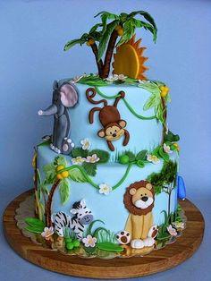 tortas decoradas con animales - Buscar con Google