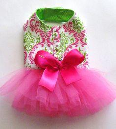 Watermelon TuTu Harness Dog Dress