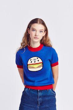 ddf5c3b68534 Lazy Oaf Burger Knit Jumper Short Jeans