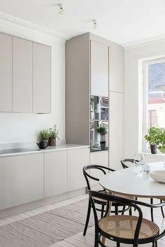 Design Jobs, Layout Design, Design Ideas, Design Design, Grey Kitchen Designs, Interior Design Kitchen, Modern Kitchen Design, Grey Kitchens, Home Kitchens