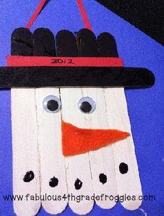 Classroom DIY: DIY - (easy peasy) Snowman Ornament