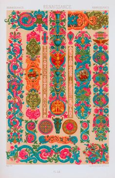 One of hundreds of thousands of free digital items from The New York Public Library. Pattern Art, Pattern Design, Graphic Design Illustration, Illustration Art, Renaissance, Indian Folk Art, Islamic Art, Art And Architecture, Traditional Art