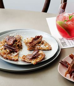 Australian Gourmet Traveller recipe for potato waffles by Pinbone, Sydney.