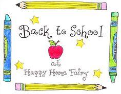 Easy Back to School Teacher Appreciation Gift - Happy Home Fairy Back To School Party, Back To School Teacher, 1st Day Of School, Beginning Of The School Year, Back To School Supplies, School Stuff, School Starts, Starting School, School School