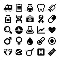 Medical Icons Set — JPG Image #pharmacy #medical • Available here → https://graphicriver.net/item/medical-icons-set/5733426?ref=pxcr