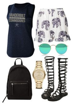 """""""Casual Campus Style: Vanderbilt"""" by bncollege on Polyvore"""