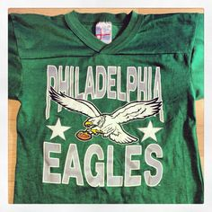 Vintage Philadelphia Eagles Kelly Green t-shirt. Bucks County Baseball Co. 6a4bccbb0