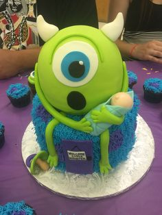 Monsters inc baby shower cake by lavish Lucy