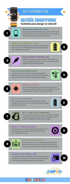 10 Consejos Para Alargar la Vida de la Batería de tu #Smartphone  #Android #tecnología #tips