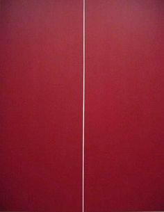 "Barnett Newman. 1970. ""Be I (second version)."" Acrylic on canvas"