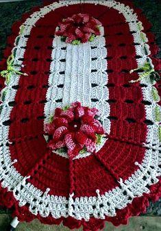 Crochet rug oval table runners 49 Ideas for 2019 Crochet Mat, Crochet Towel, Crochet Dollies, Crochet Squares, Crochet Blanket Patterns, Crochet Flowers, Knitting Patterns, Afghan Crochet, Crochet Table Runner