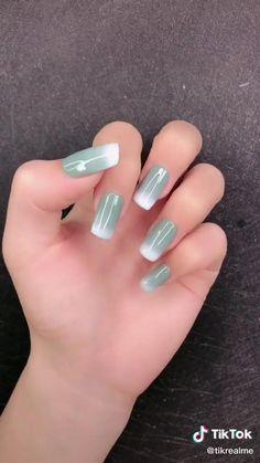 Stylish Nails, Trendy Nails, Cute Nails, Nail Art Designs Videos, Nail Art Videos, Ombre Nails Tutorial, Nagellack Design, Grunge Nails, Long Acrylic Nails