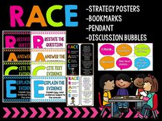 The RACE strategy is great for teaching students how to answer constructive response prompts! This cute acronym will help your students remember to cite evidence and elaborate on their answers. Races Writing Strategy, Race Writing, Writing Strategies, Third Grade Writing, 4th Grade Reading, Reading Response, Reading Intervention, Readers Workshop, Writing Workshop