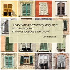 Those who know many languages proverb