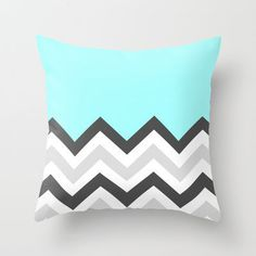Color Blocked Chevron 16 Throw Pillow by Josrick ($20.00)