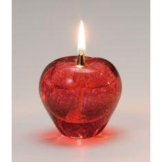 津軽びいどろ×オイルランプ 赤りんご
