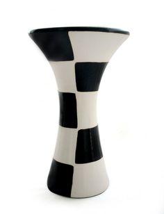 Checkered vase.