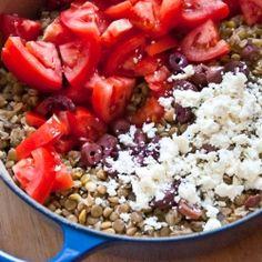 Lemony Lentil Salad With Feta and Tomatoes