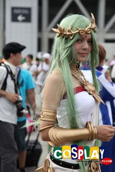 Palutena Cosplay from Kid Icarus in Summer Comiket 82 2012 Tokyo