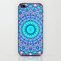 It would be especially fun/pretty if the aqua color was metallic ~ ARABESQUE iPhone & iPod Skin by Monika Strigel - $15.00