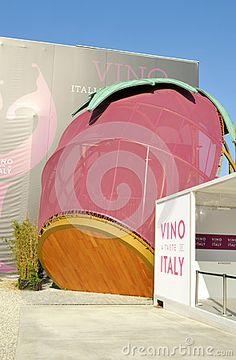 Nadia Mikushova. Side view to the Italy wine EXPO Milano 2015 pavilion. Editorial Image