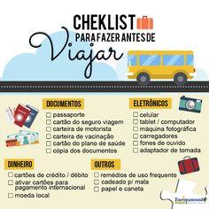 Quem aí já tem a próxima viagem marcada? Tem certas coisas que são indispensáveis e obrigatórias levar quando se viaja. Então aqui vai uma ajudinha para vocês, um checklist de coisas báscias que você precisa levar na sua viagem ✔✔✔.