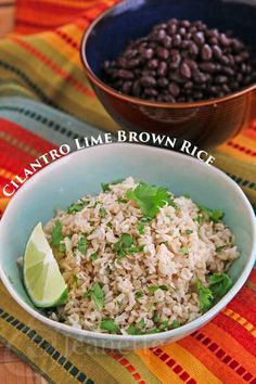 Chipotle Style Cilantro Lime Brown Rice Recipe ~ I'll have to try making it on the stove as I don't have a rice cooker at all! http://jeanetteshealthyliving.com