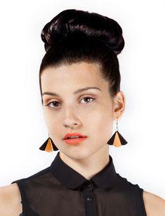 Deco petal drop earrings. £12.00, via Etsy.