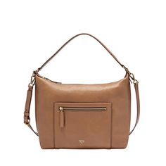 Fossil Vickery Shoulder Bag Crossbody Leather Camel ZB6457 Retail $218 #Fossil #ShoulderBag