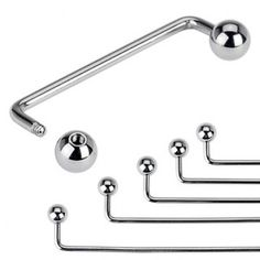 Surgical Steel Rise 90 degree Staple Surface Piercing Barbell With Balls Piercing Labret, Labret Studs, Body Piercings, Piercing Surface, Piercing Arcade, Circular Barbell, Silver Nose Ring, Body Jewellery, Jewelry