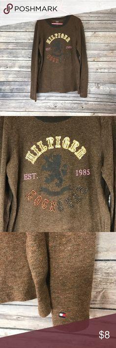 💜Sz M (8-10) Tommy Hilfiger Rockstar shirt Like new, lots of shiny bling!  Hilfiger Rockstar! Tommy Hilfiger Shirts & Tops Tees - Long Sleeve