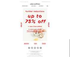 fashion emails, easter, mid season sale
