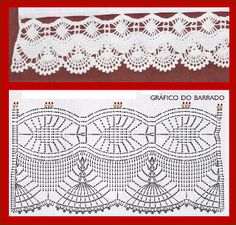 Photo from album Crochet Collar Pattern, Crochet Lace Collar, Crochet Dolls Free Patterns, Crochet Lace Edging, Crochet Borders, Crochet Flower Patterns, Crochet Stitches Patterns, Crochet Chart, Crochet Doilies