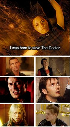 """Clara """"I was born to save the Doctor""""  9, Rory, Jack, 10, Rose and Ace are NOT impressed. Click through for eye rolling gif"""