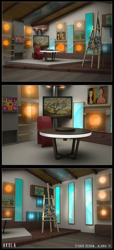 Stage Backdrop Design, Stage Design, Tv Set Design, Media Design, Logo Design, Interior Design Studio, Studio Design, Plateau Tv, Virtual Studio