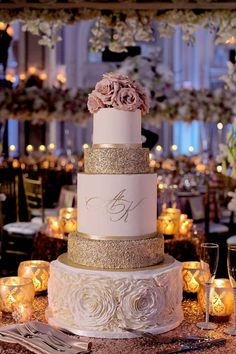 rose gold wedding check out this blush ruffle and rose gold glitter wedding cake with pink flowers toppers, perfect for spring weddings Blush Wedding Cakes, Elegant Wedding Cakes, Beautiful Wedding Cakes, Dream Wedding, Blush Weddings, White Weddings, Lace Wedding, Beautiful Cakes, Rustic Wedding
