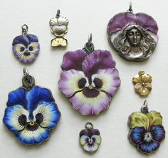 Pansy grouping courtesy of Red Robin Antiques
