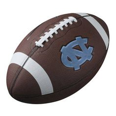 UNC Tar Heels replica football with embossed logo