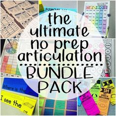 The ultimate no prep articulation bundle pack!  Save $$$ by bundling! The price to purchase each set separately is listed below. This is a collection of my favorite and best selling articulation games, hand-outs and activities!  All of the packs included are no-prep and make planning for therapy super easy.