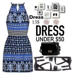"""""""Dress Under 50$"""" by anarita11 ❤ liked on Polyvore featuring Forever 21, kitsch island and Dressunder50"""