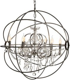 Medium Chandelier Gyro & Crystal | Timothy Oulton | For the Home ...