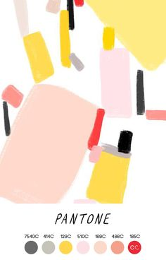 Contemporary Colour - OPHELIA PANG - Grey, Yellow, Pink, Peach, Red